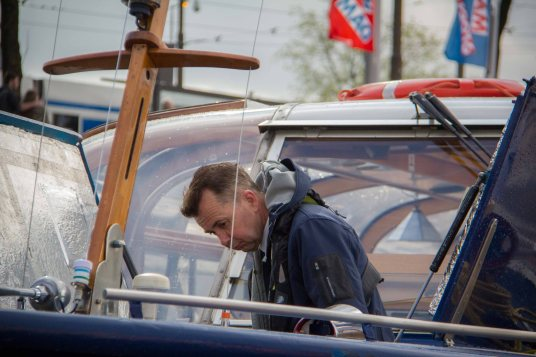 Arbeiten am Boot