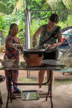 Pancakes backen - echt vietnamesisch