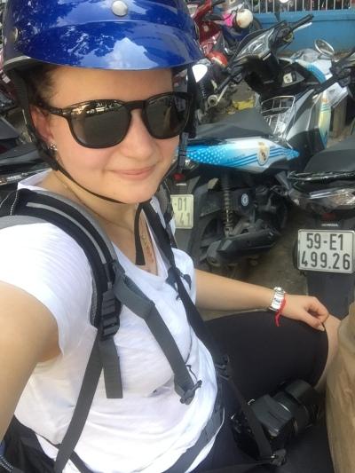 am Scooter mitfahren - juhu